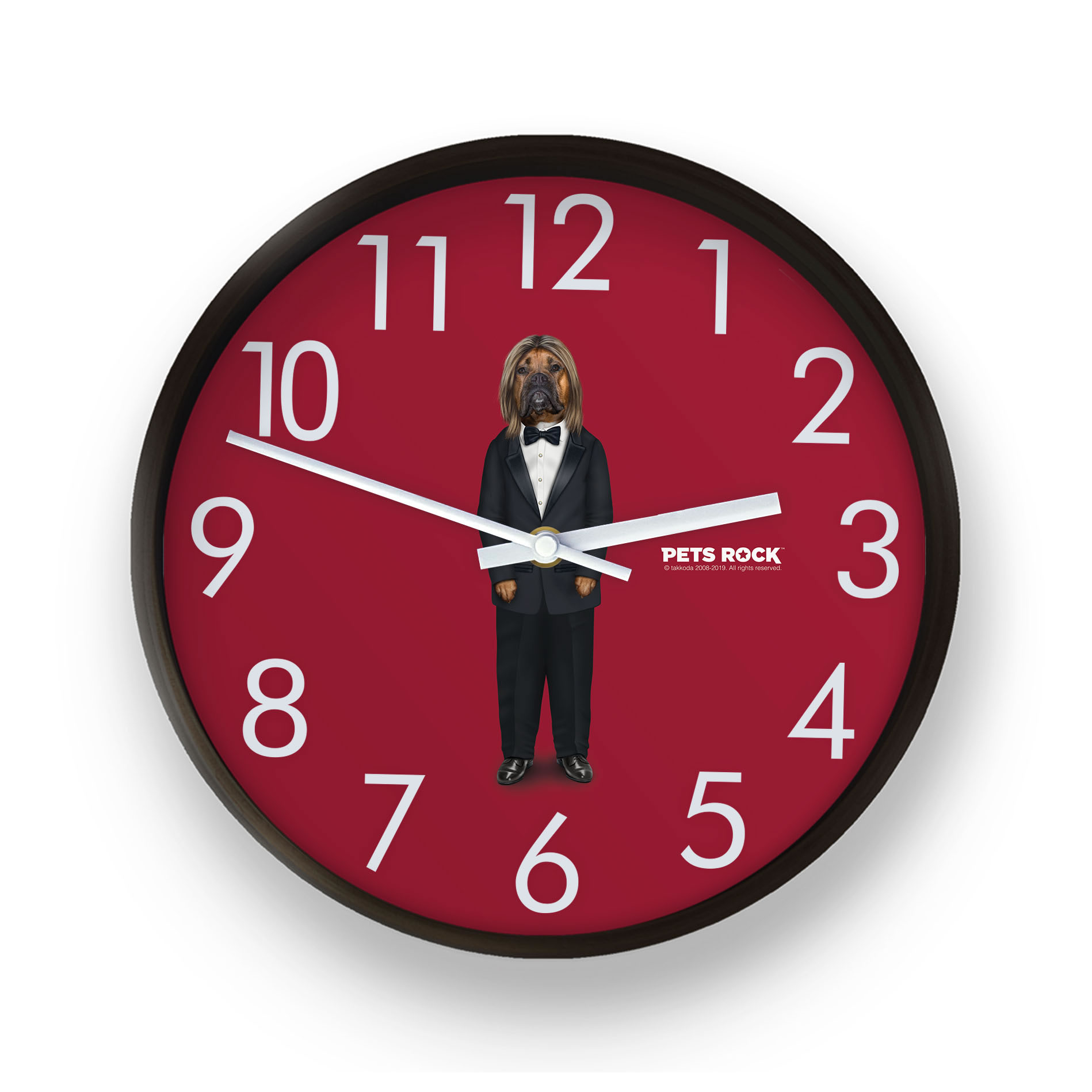 Hollywood Man Pets Rock Wall Clock