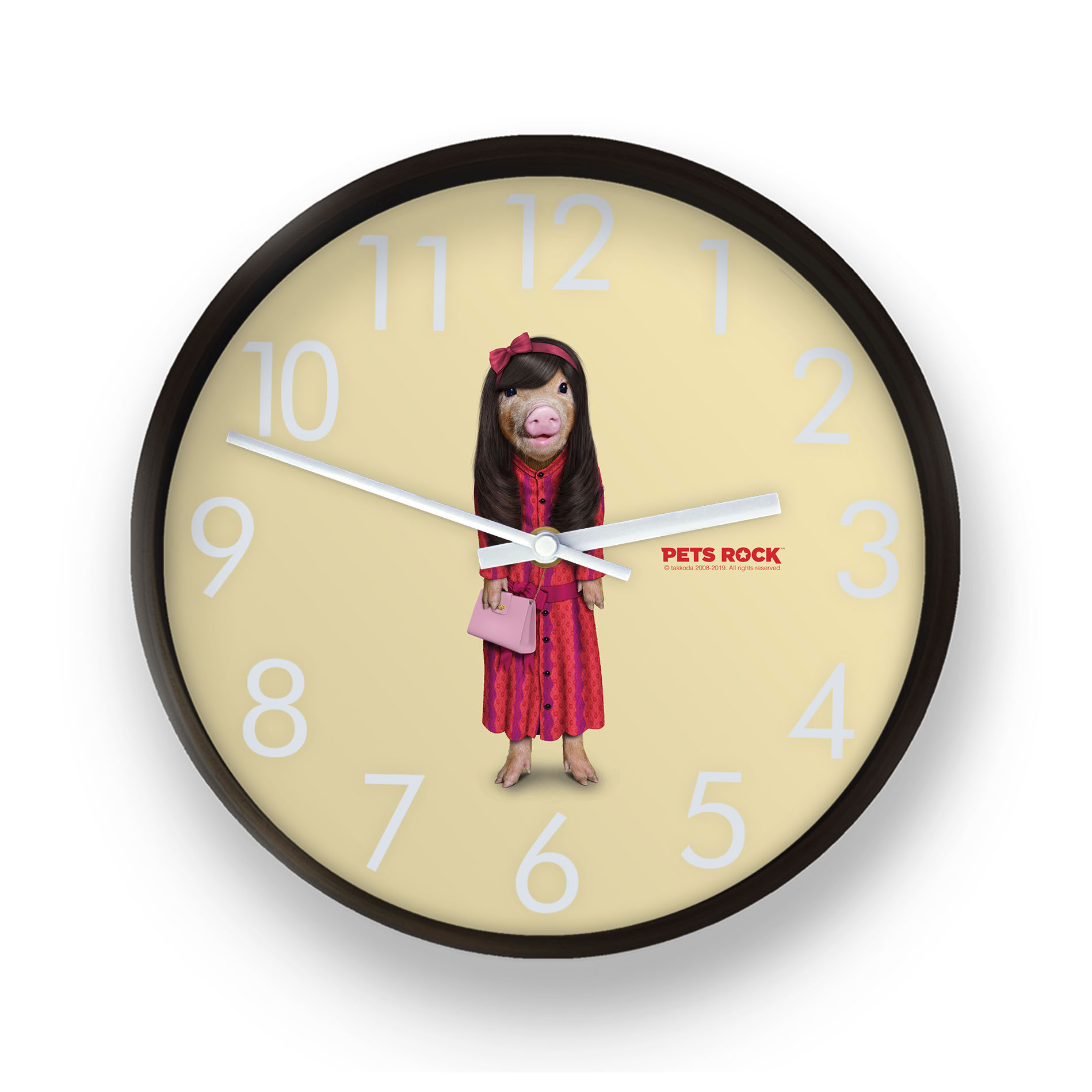 Patsy Pets Rock Wall Clock