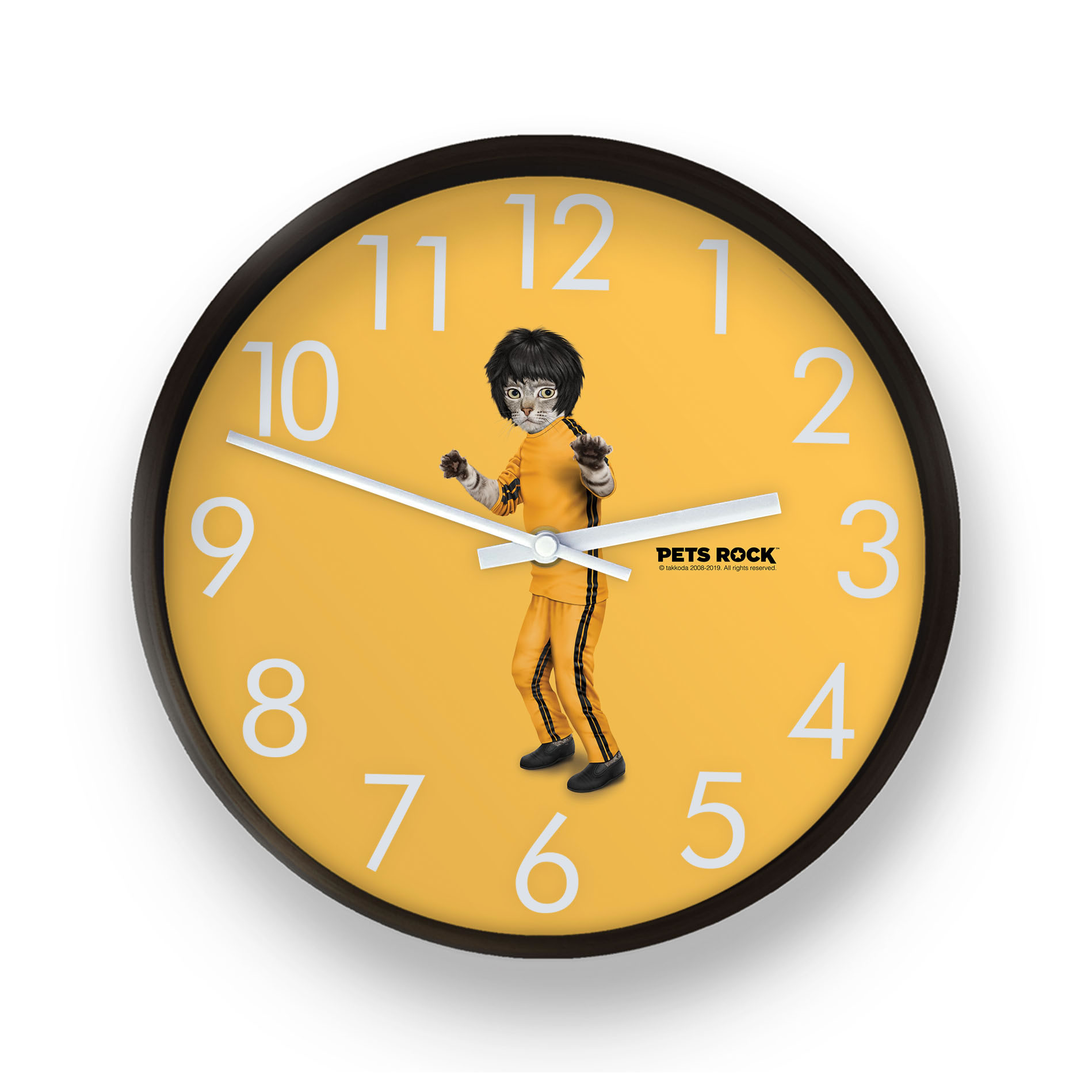 Kung Fu Pest Rock Wall Clock