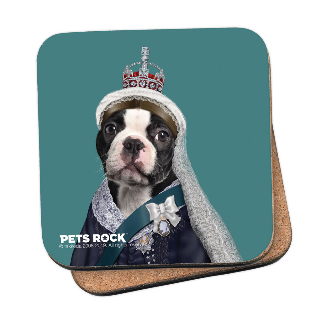 Queen Vic Pets Rock Coaster