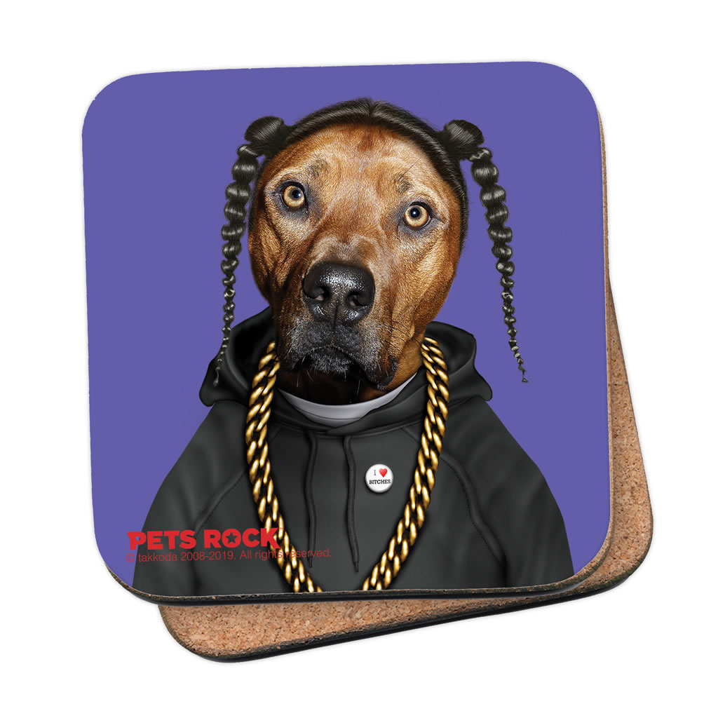 Rap Pets Rock Coaster