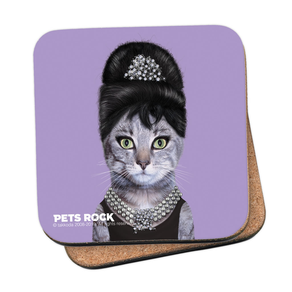 Breakfast Pets Rock Coaster