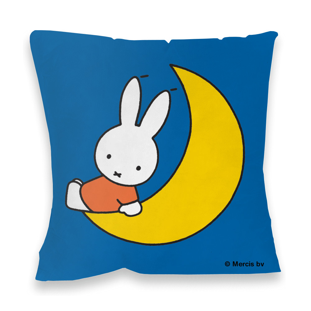 Miffy Sat on the Moon Faux Suede Feather Filled Cushion