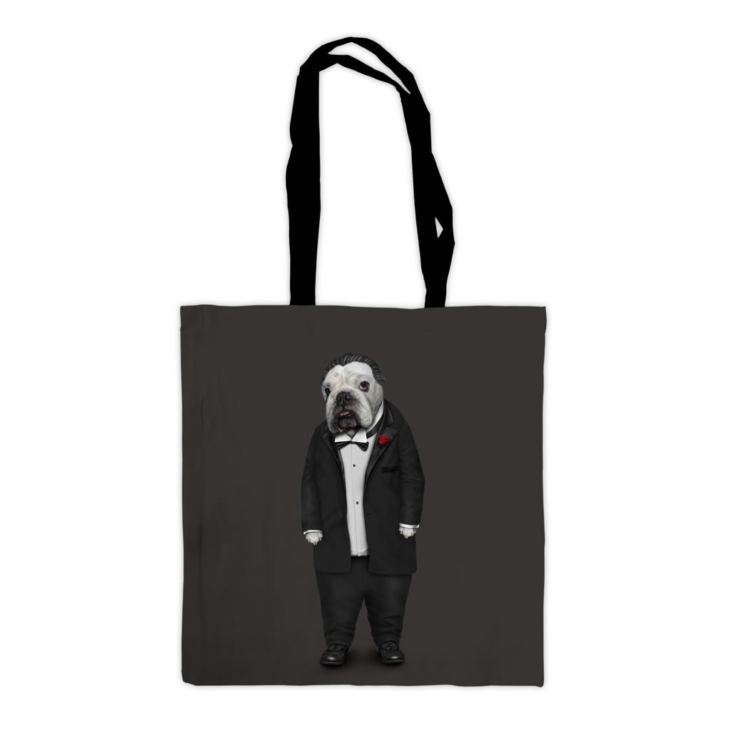 Dog Father Pets Rock Premium Tote Bag