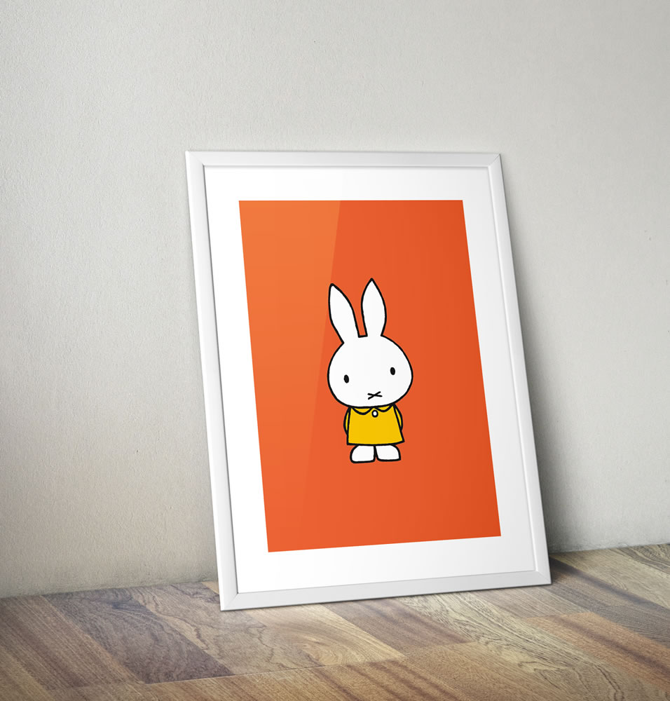 Miffy in a Yellow Dress Framed Mini Poster