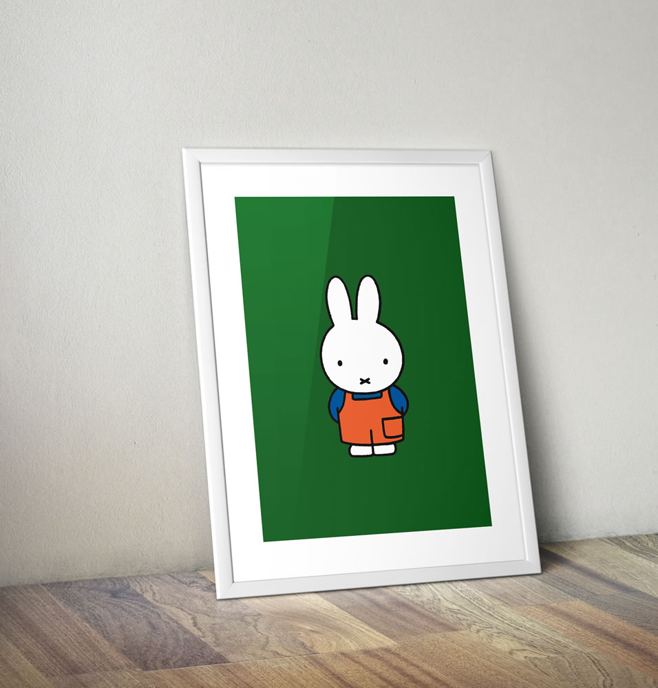 Miffy in Dungarees Framed Mini Poster