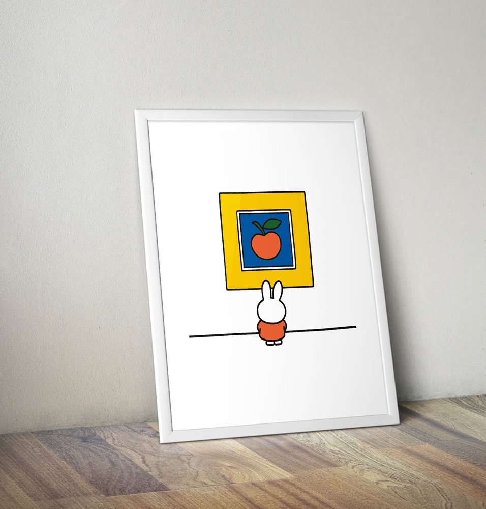 Miffy at an Art Gallery Framed Mini Poster