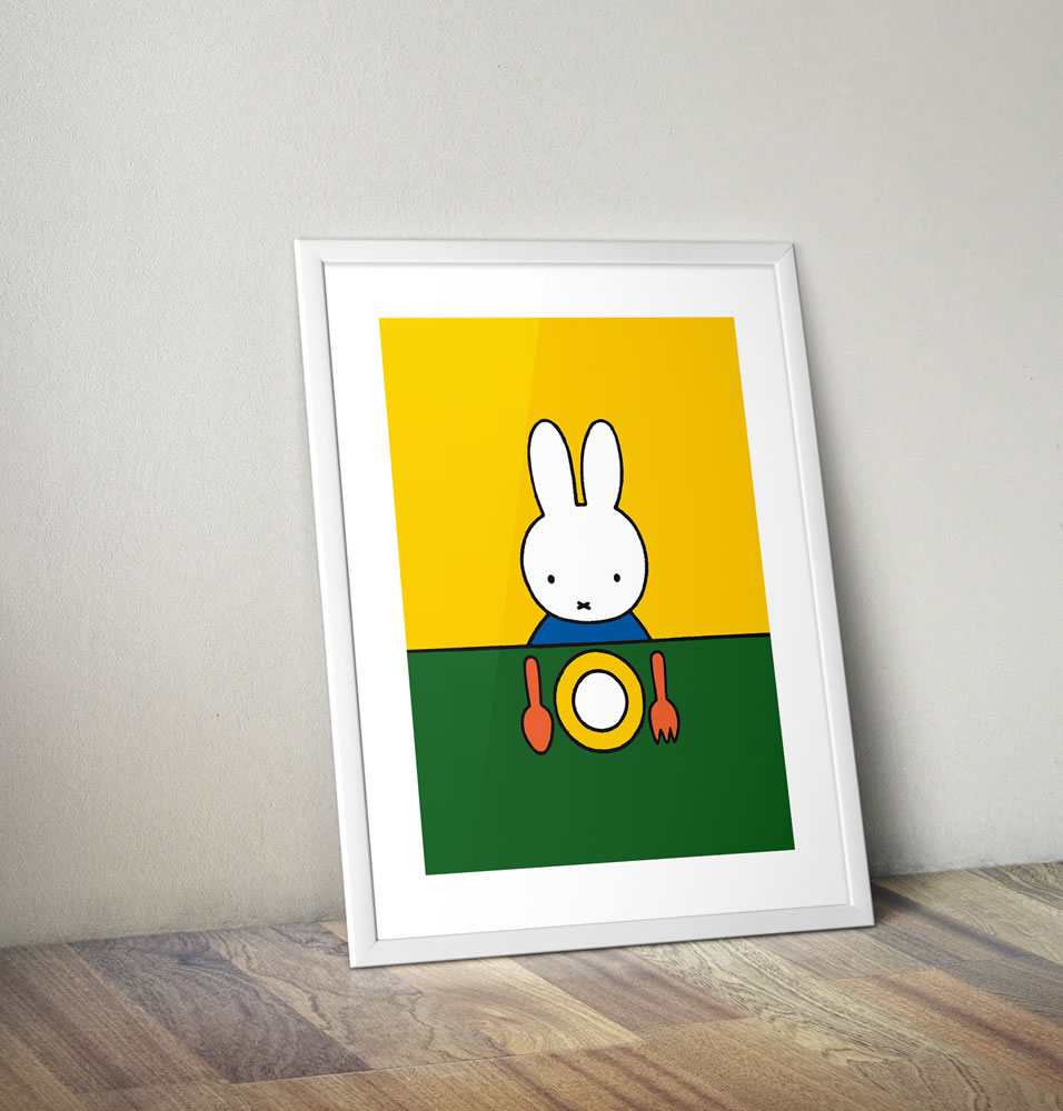 Miffy Ready to Eat Framed Mini Poster