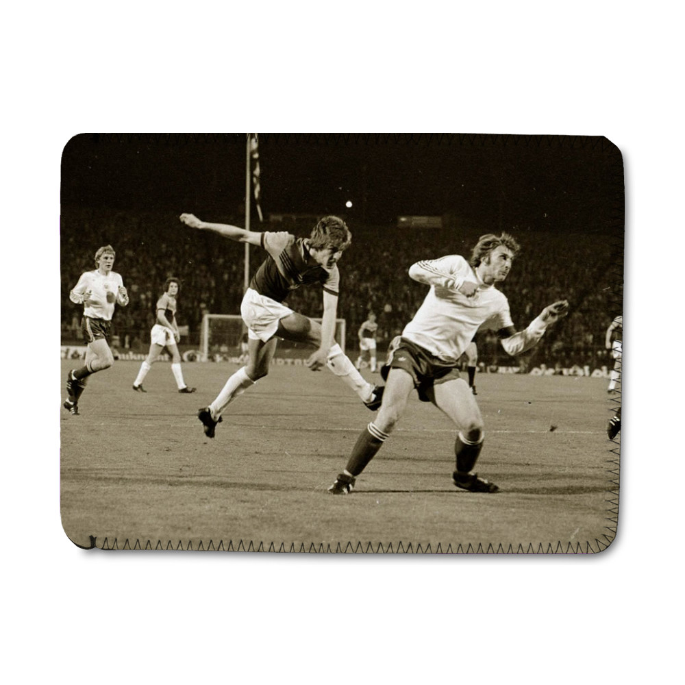 European Cup Winners Cup Final at the Heysel Stadium, May 1976. Anderlecht.. iPad Sleeve