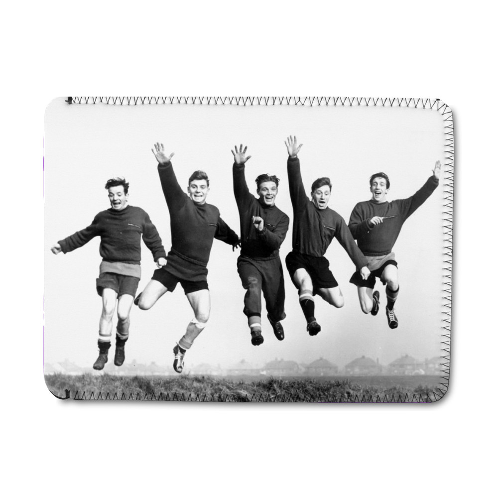 Busby babes Johnny Berry, Duncan.. iPad Sleeve