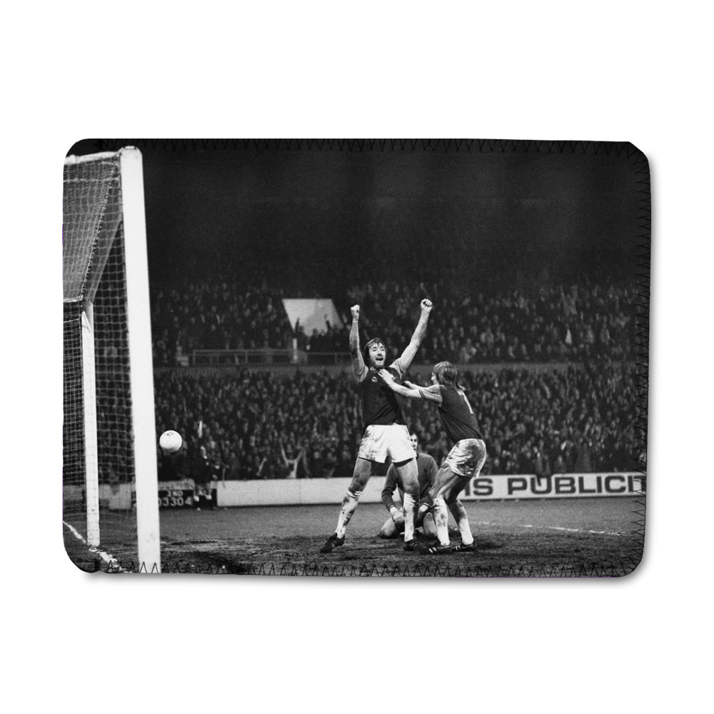 European Cup Winners Cup. West Ham 3 v Den Haag 1, Billy Bonds celebrates... iPad Sleeve