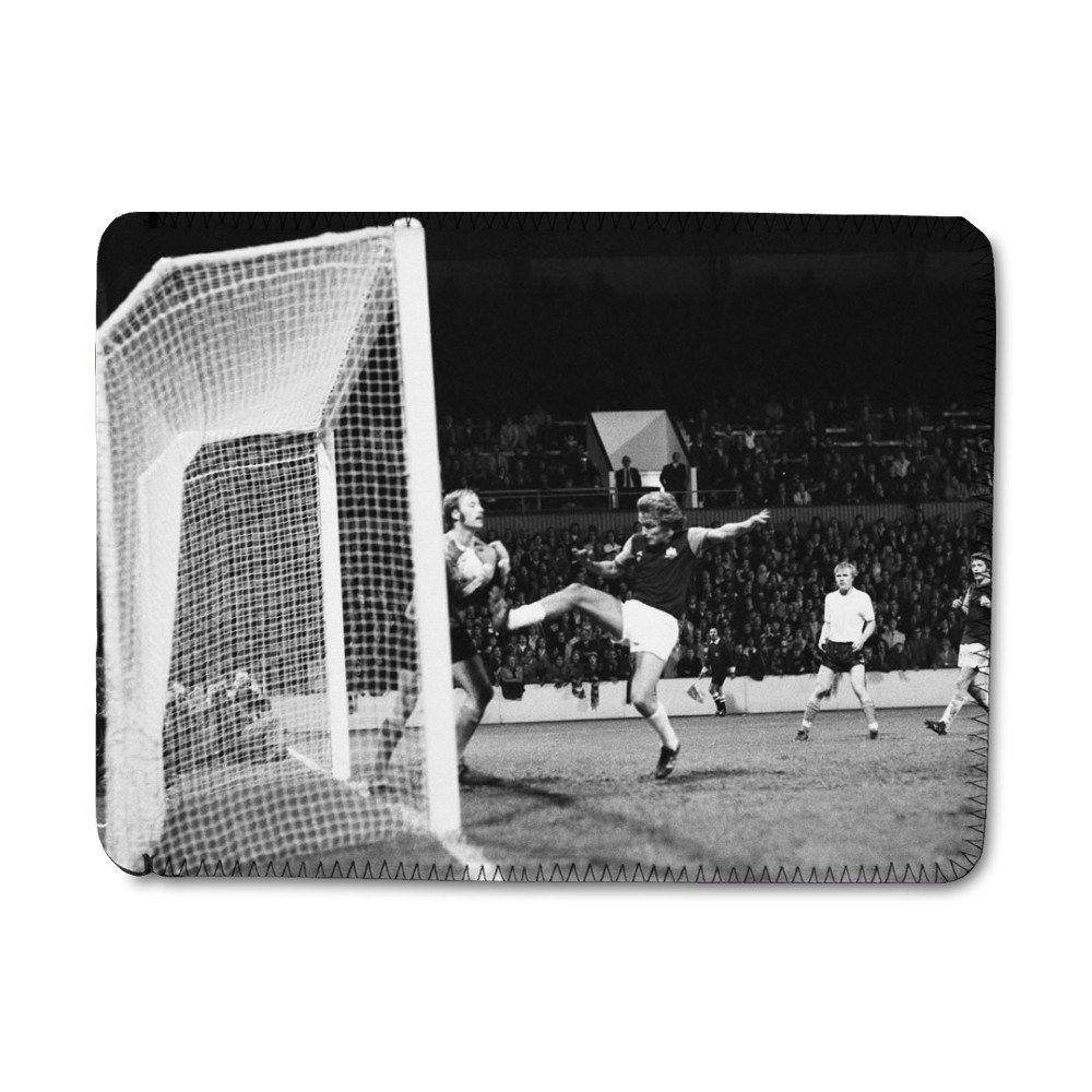European Cup Winners Cup. West Ham v Reipas Lahden. Pat Holland tries to.. iPad Sleeve