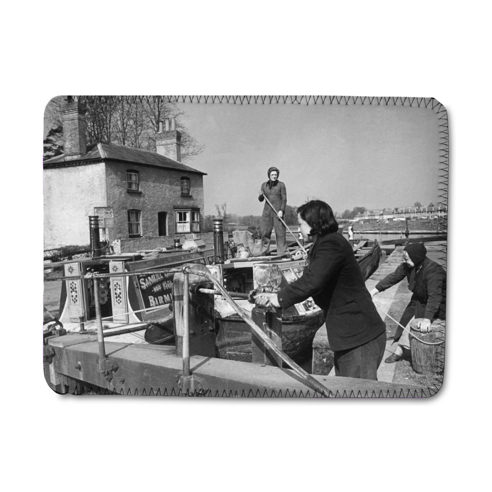 Mother and daughter Captain and crew of.. iPad Sleeve