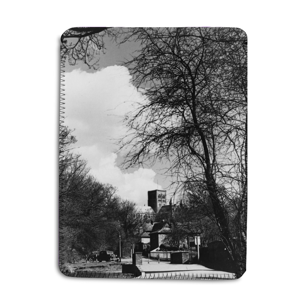 St. Albans scene Cathedral seen through.. iPad Sleeve