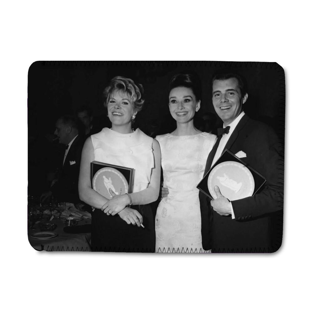'Rachel Roberts, Audrey Hepburn and Dirk Bogarde' iPad Sleeve