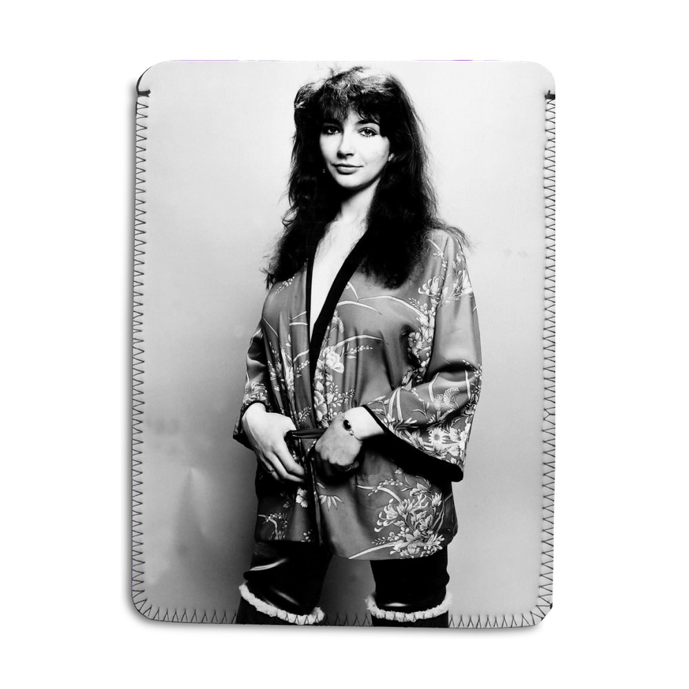 Pop singer Kate Bush poses in the studio wearing a kimono iPad Sleeve