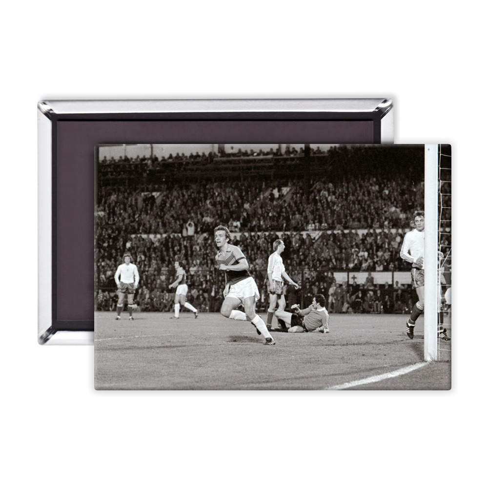 European Cup Winners Cup Final at the Heysel Stadium, May 1976. Anderlecht.. Magnet