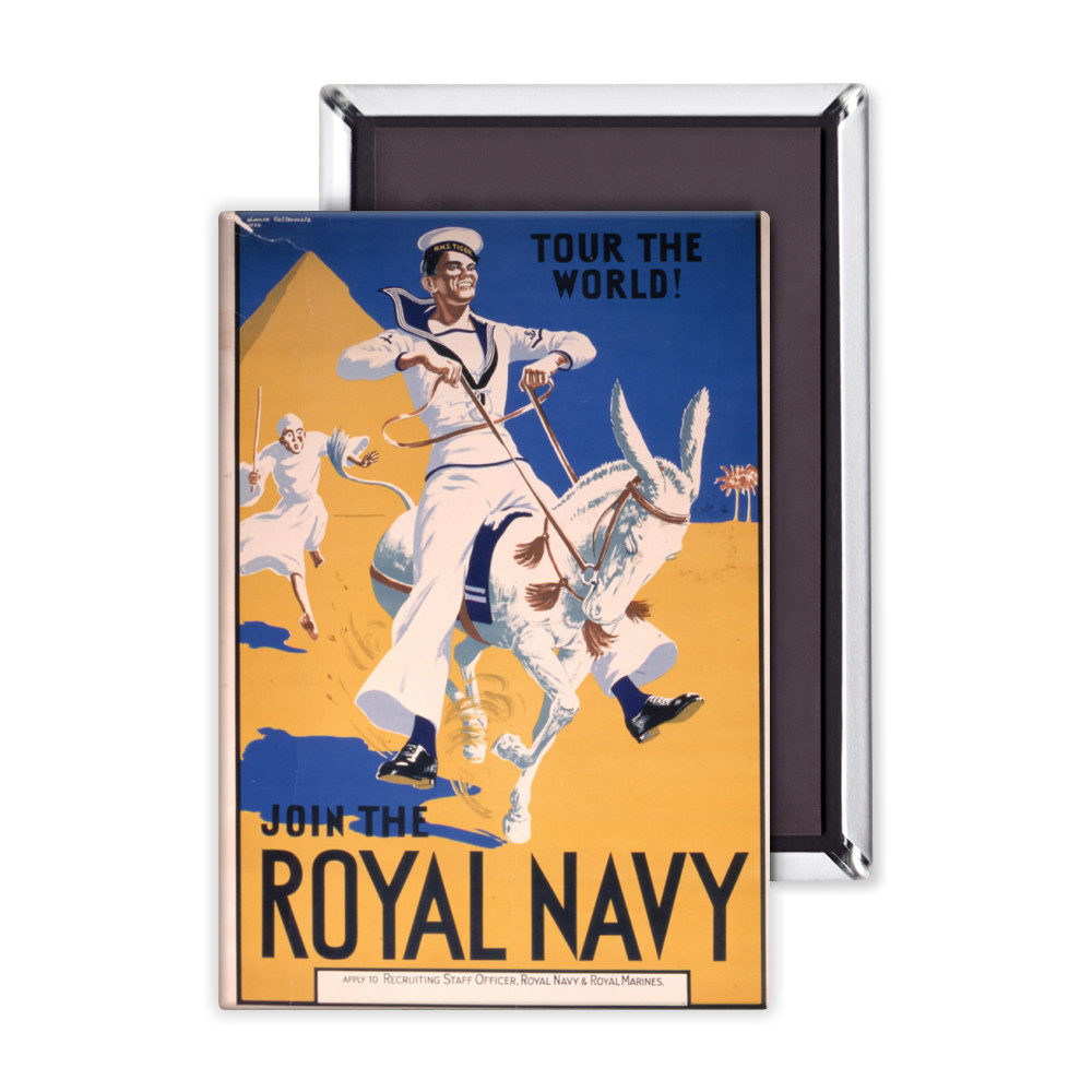 Join the Royal Navy - Tour the World Magnet