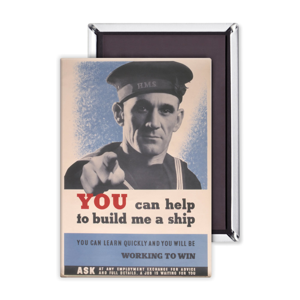 You Can Help to Build Me a Ship Magnet