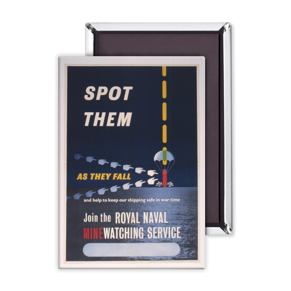 Spot Them as They Fall and Help to Keep our Shipping Safe in War Time  Magnet