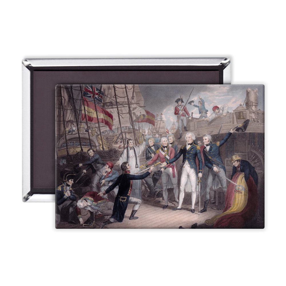 Admiral Nelson Receiving the Spanish Admiral's Sword, Battle of St. Vincent Magnet