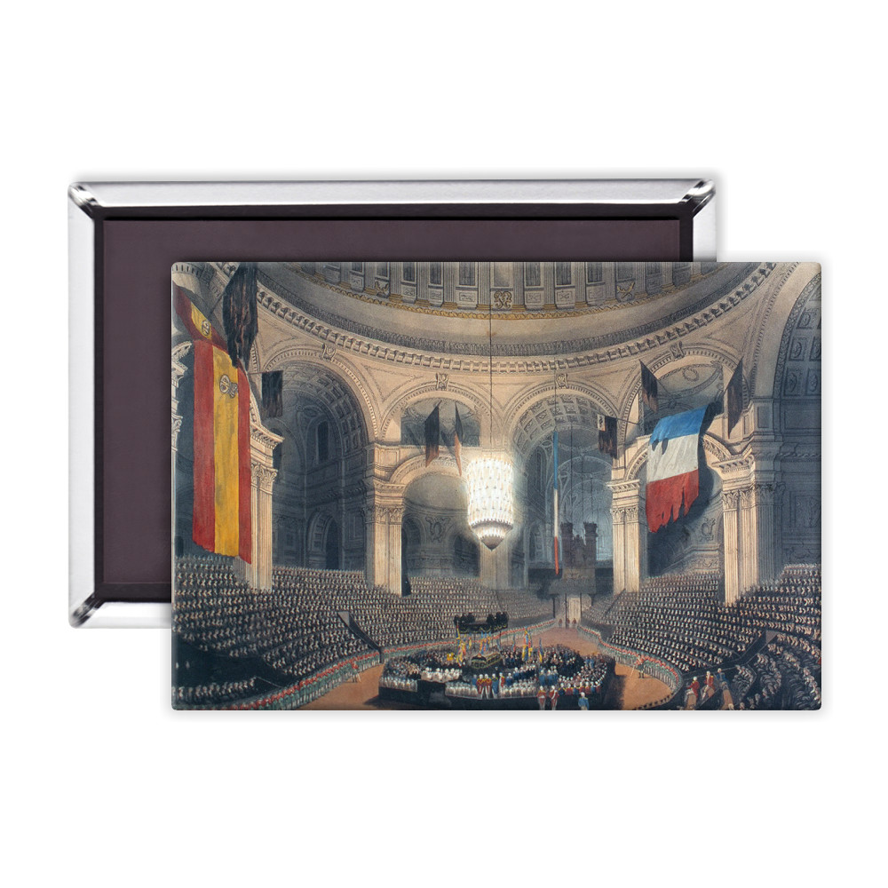 The Ceremony of Lord Nelson's Interment in St Pauls Cathedral Magnet