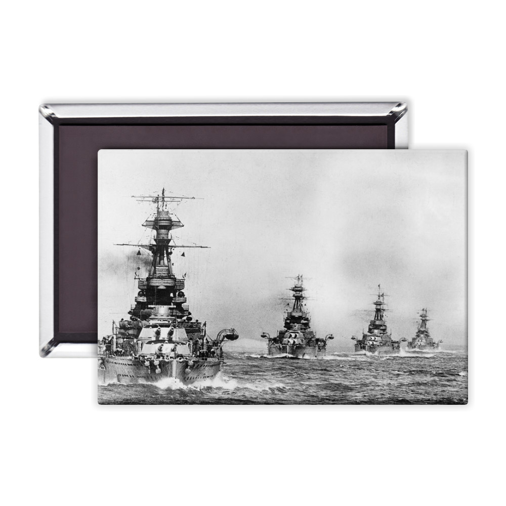 R Class Battleships in Line Ahead Magnet