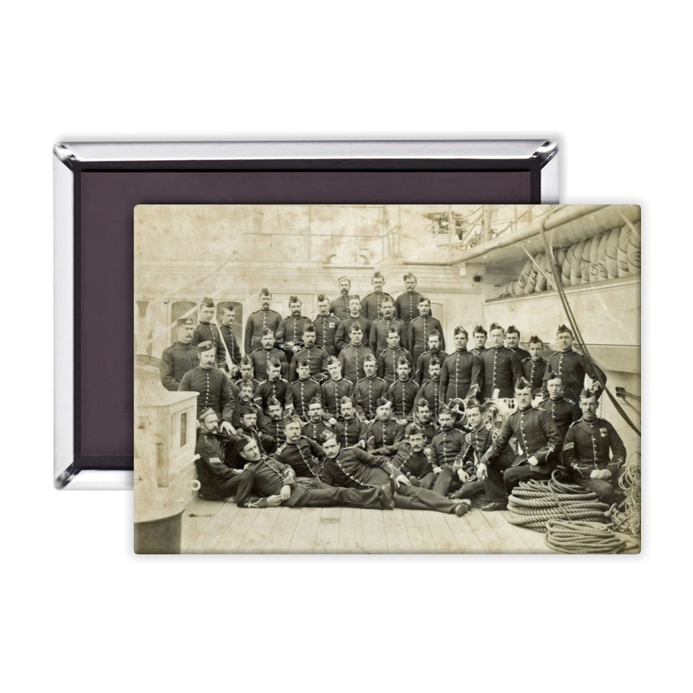 Royal Marine Detachment aboard an unidentified warship, c1880. Magnet