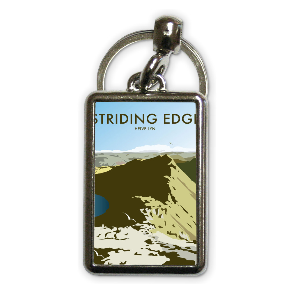 Helvellyn Edge, Lake District Metal Keyring