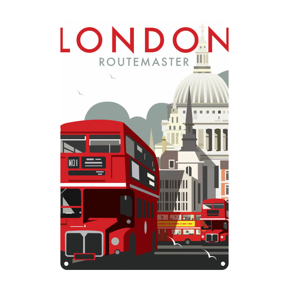 London Routemaster Metal Sign