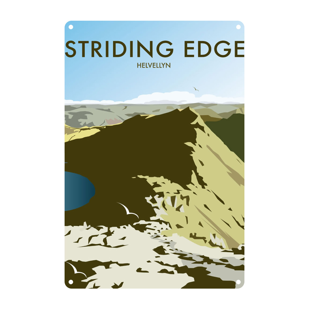 Helvellyn Edge, Lake District Metal Sign