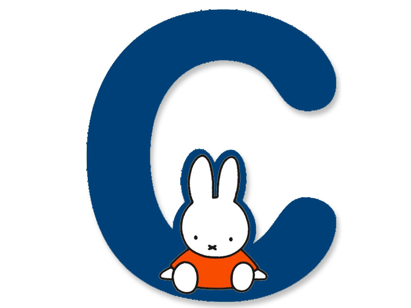C (Blue) - A to Z Miffy wooden letter