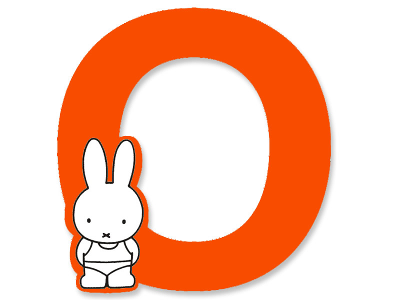 O (Orange) - A to Z Miffy wooden letter