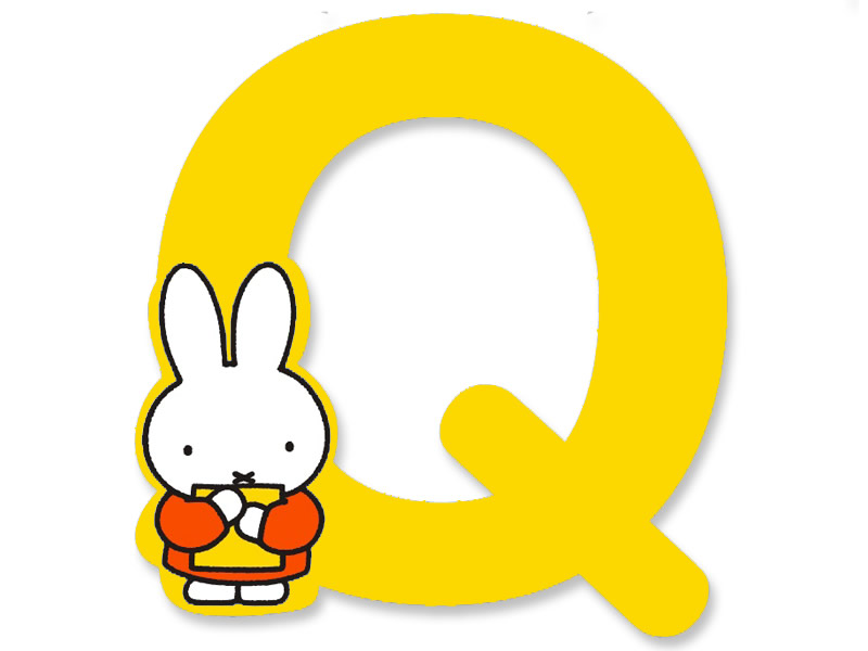 Q (Yellow) - A to Z Miffy wooden letter
