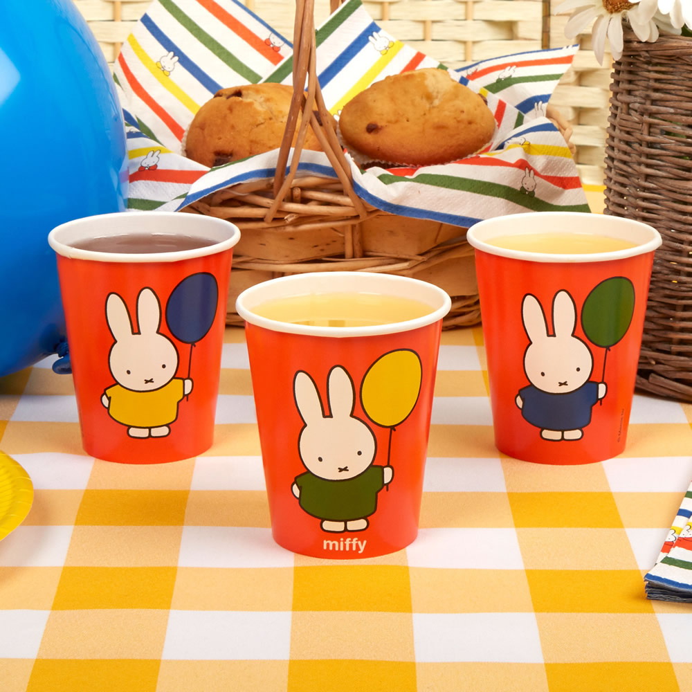 Miffy Birthday Cups - 8 Pack