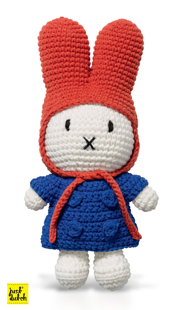 Miffy Handmade crochet and her blue jacket & red hood