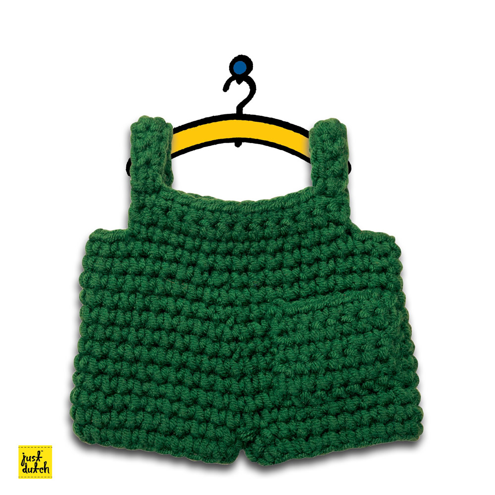 Miffy Handmade clothes set, green overall
