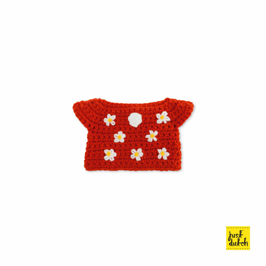 Miffy handmade clothes red flower dress