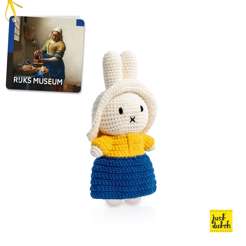 Miffy handmade crochet and her Milkmaid outfit