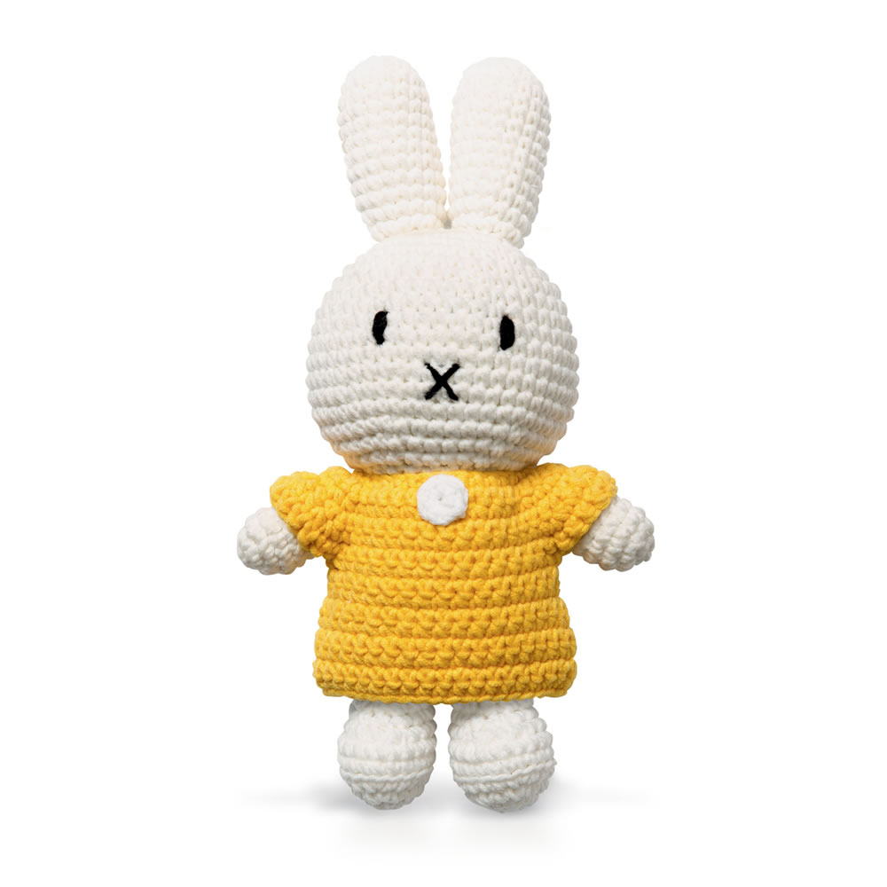 Miffy Handmade crochet and her yellow dress