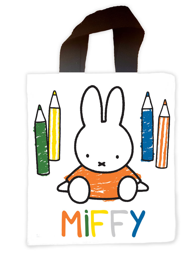 miffy colouring pencils mini tote bag
