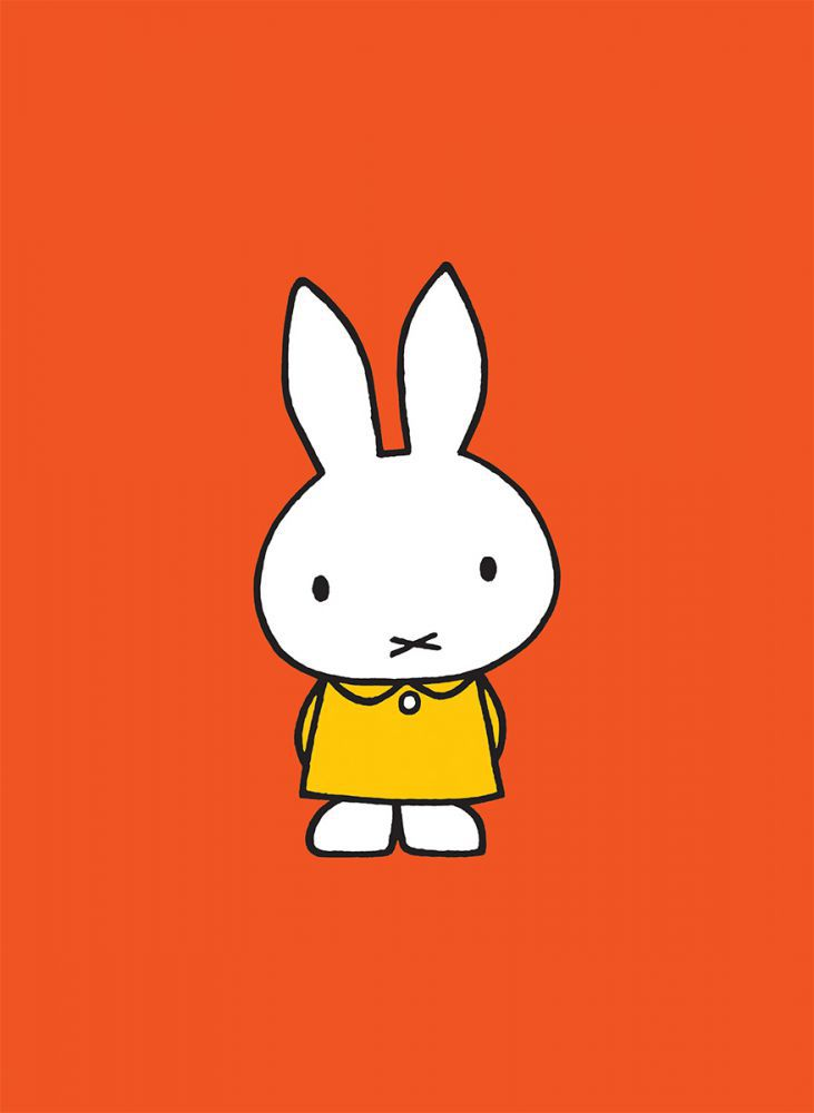 Miffy in a Yellow Dress Mini Poster