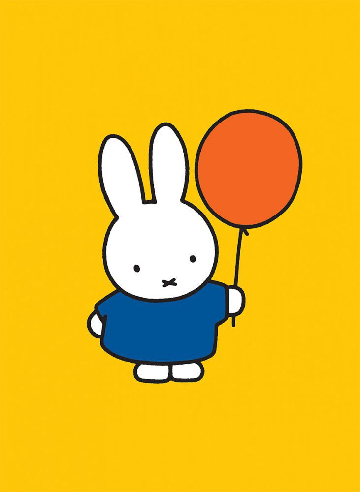 miffy holding a balloon mini poster. Black Bedroom Furniture Sets. Home Design Ideas