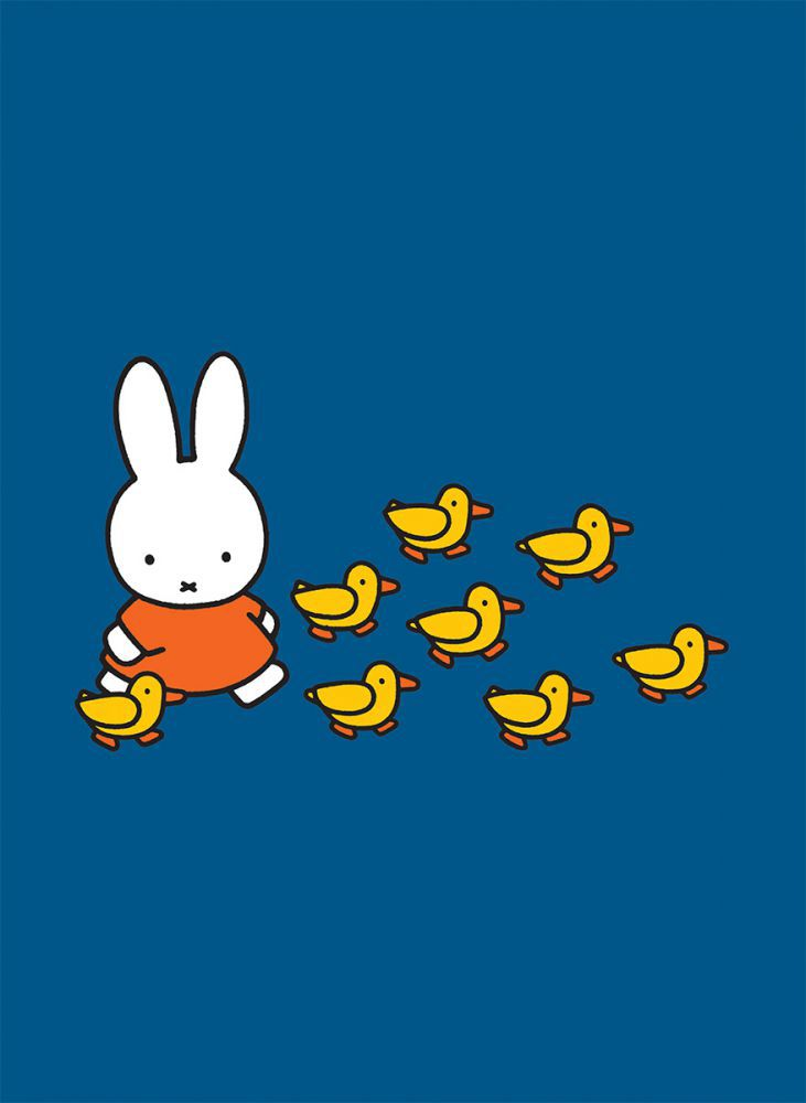 Miffy Walking With Ducks Mini Poster