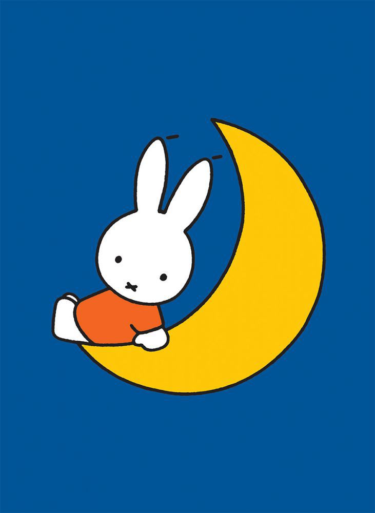 Miffy Sat on the Moon Mini Poster