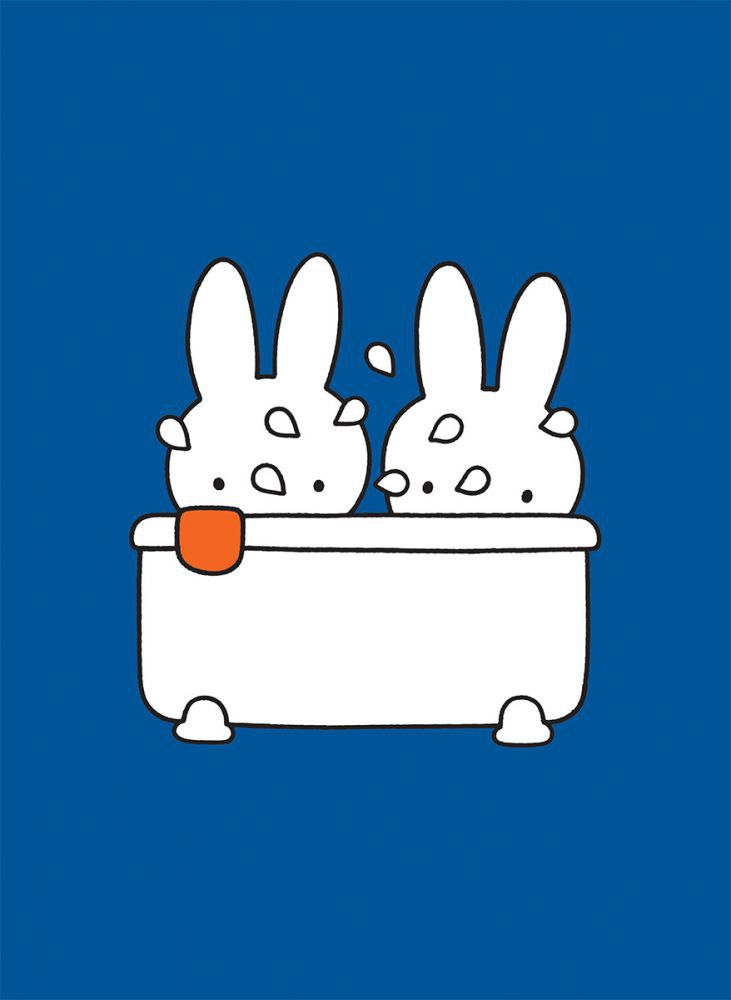 Miffy Taking A Bath Mini Poster