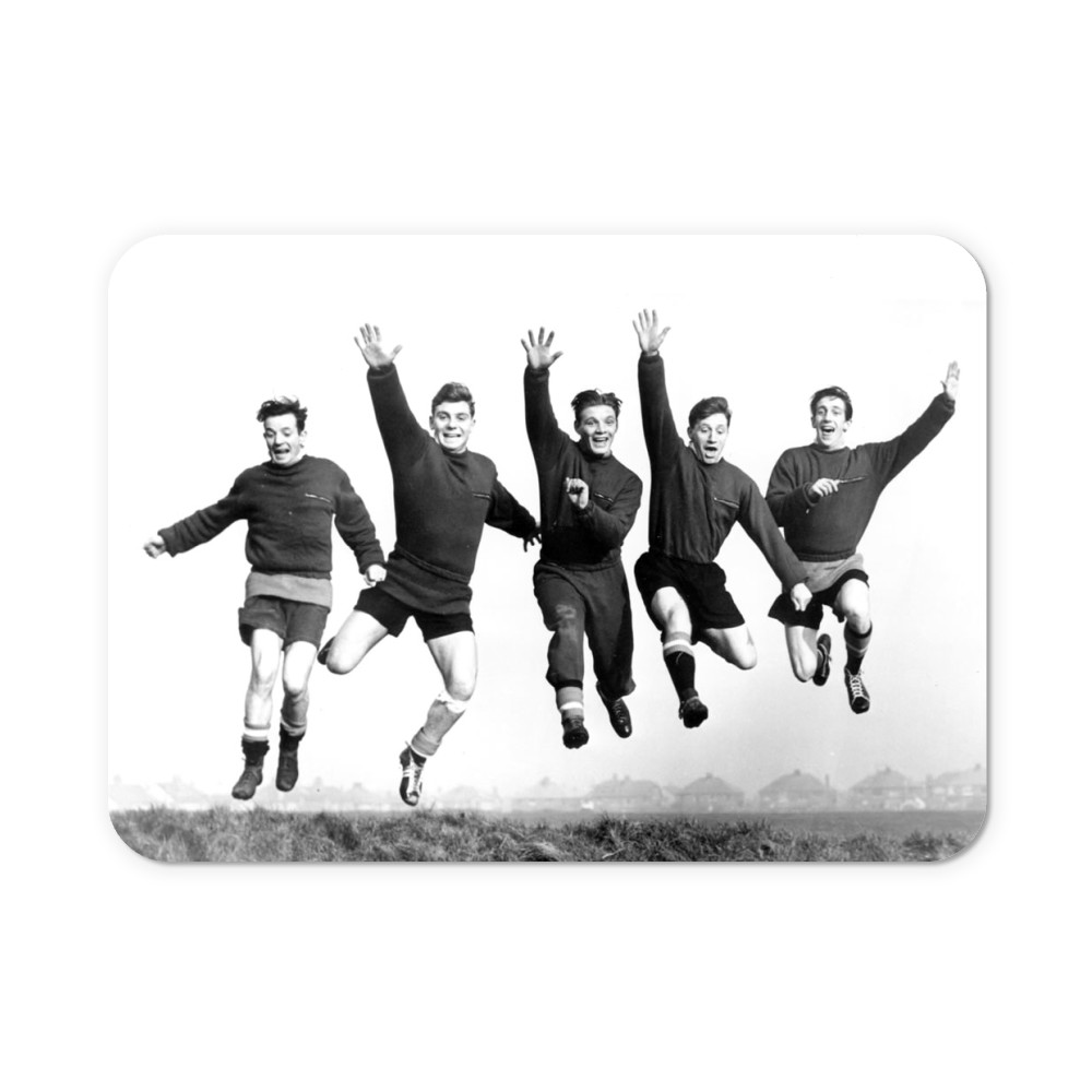 Busby babes Johnny Berry, Duncan.. Mousemat