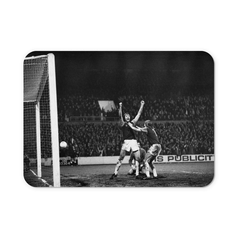 European Cup Winners Cup. West Ham 3 v Den Haag 1, Billy Bonds celebrates... Mousemat
