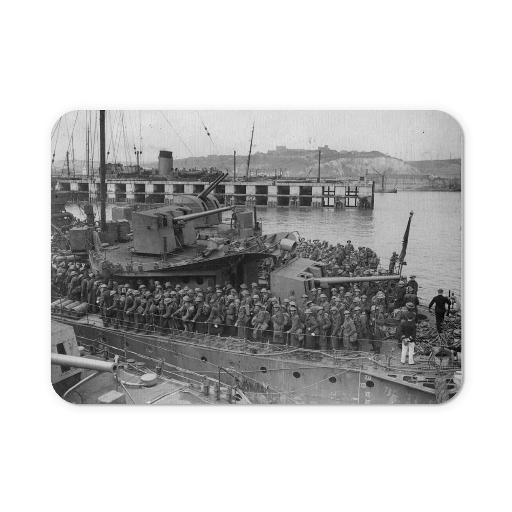 Army Personnel Disembarking from Destroyers at Dover Mousemat