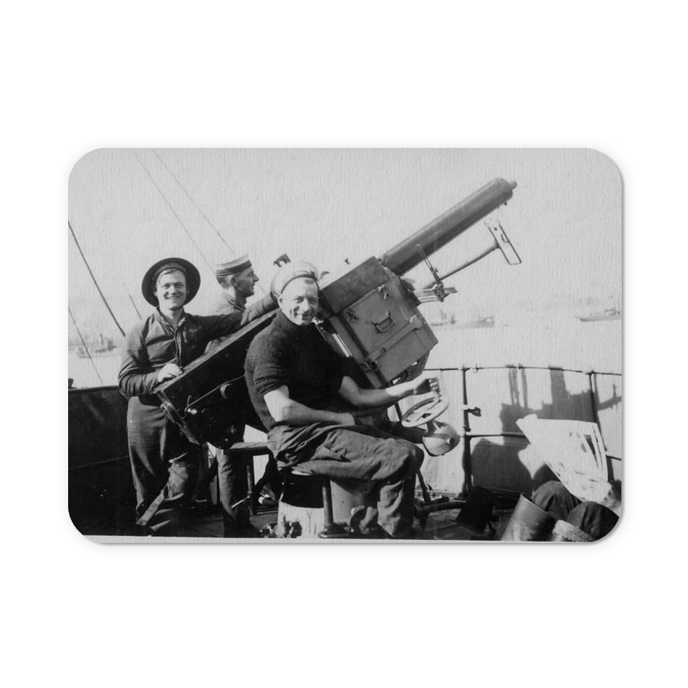 Single 2pdr Pom-pom AA Gun on HMS Brilliant Mousemat